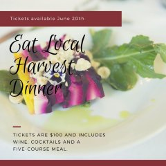Eat Local Harvest Dinner, Sept. 9th