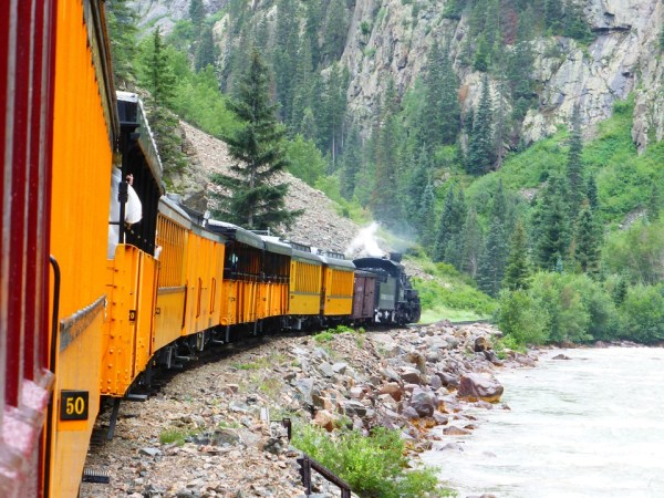 scenic durango silverton train views