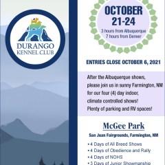 Durango KC 4-Day Show – Oct 21-24!