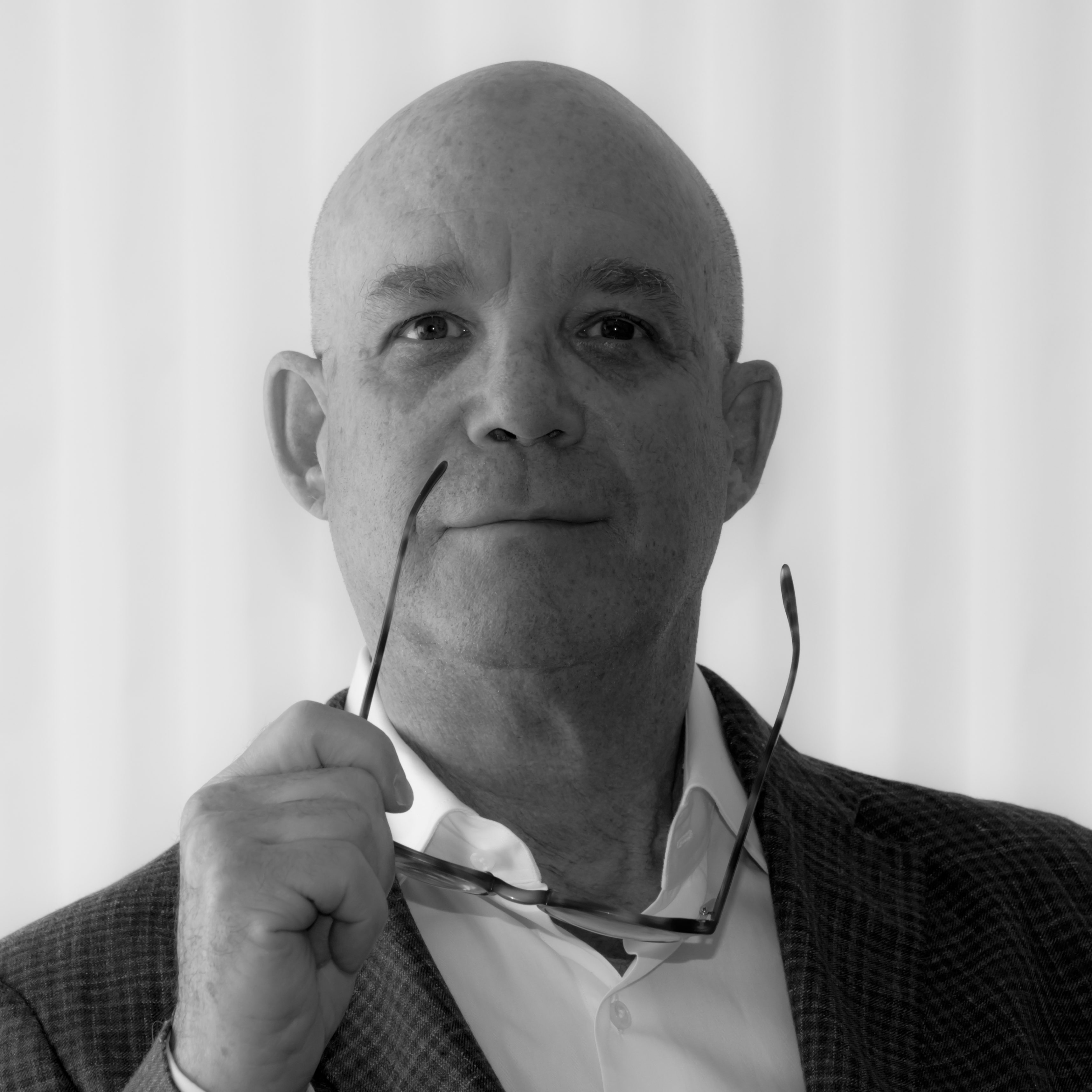 black and white image of Gary Herman