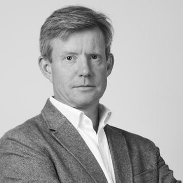 Black and white image of Simon Taylor