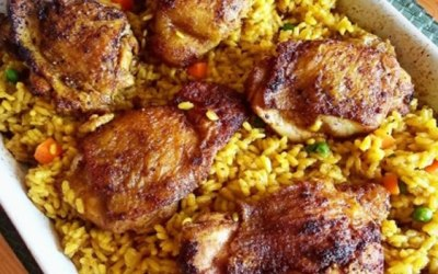 Chicken Rice and Spices Bake