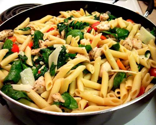 Chicken and Pasta Florentine Casserole