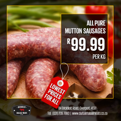 All Pure Mutton Sausages