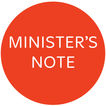 Minister's Note – 17 May 2015