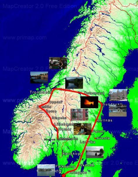 0 Tour Norwegen Schweden 2008