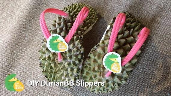 DIY 榴槤BB 榴槤拖鞋 (Durian Slippers)