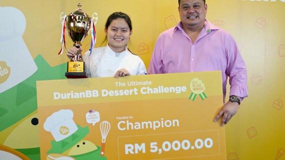 學生廚師Felicia Teo獲勝2018年 吉隆坡 榴槤BB 甜品大師盃