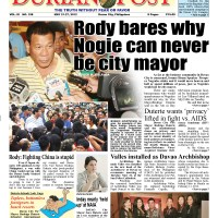 DUTERTE reveals why ex-Speaker Prospero Nograles can never be Davao City mayor - HEADLINE - The Durian Post No. 108