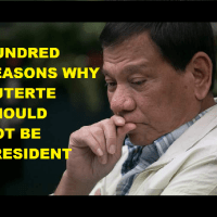 HUNDRED REASONS WHY DUTERTE SHOULD NOT BE PRESIDENT