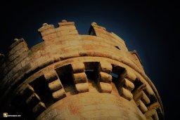 Garitón de la torre del castillo de Fuensaldaña