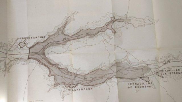 Durius Aquae: Uno de los proyectos de embalse en Torresandino (Arch. CHD)