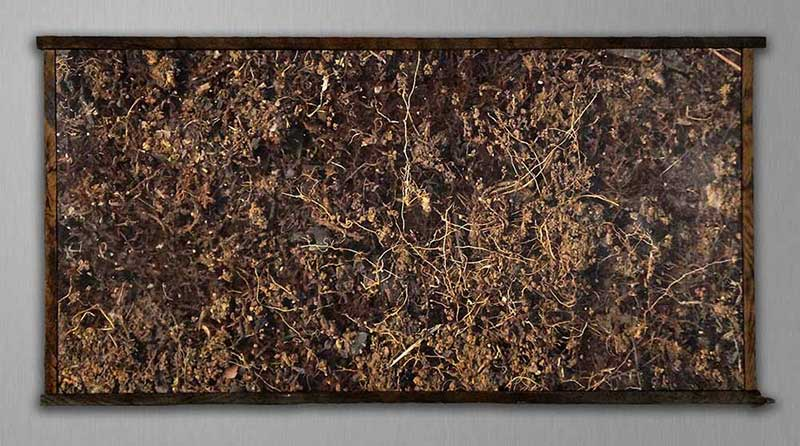 Dirt After Pollock (framed)
