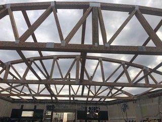 bowstring truss construction framing