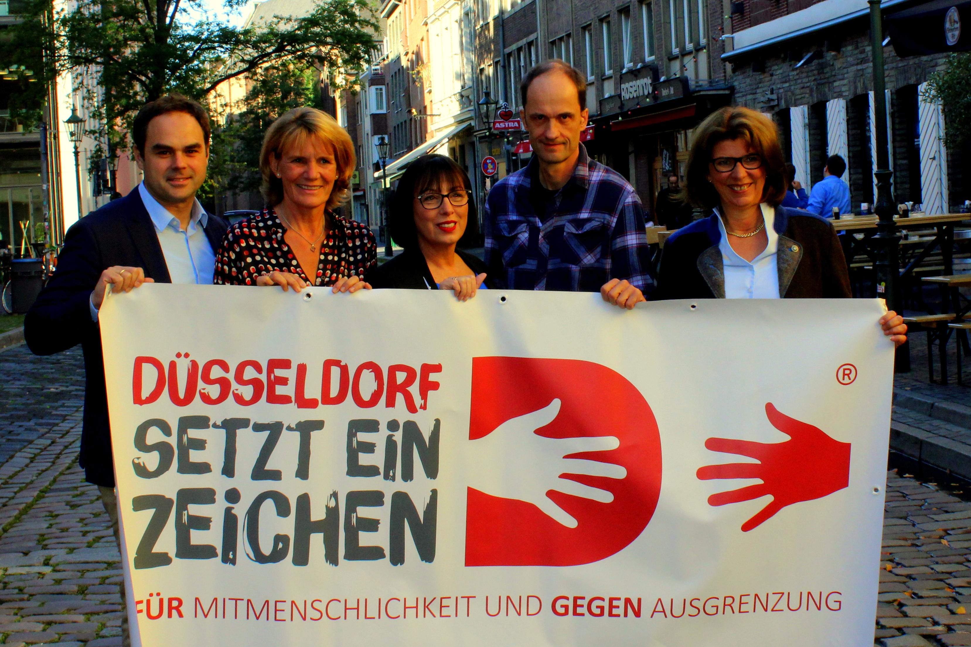 """Bürgerstiftung Düsseldorf setzt die Spendenaktion """"Düsseldorf setzt ein Zeichen"""" auch in 2018 fort…"""