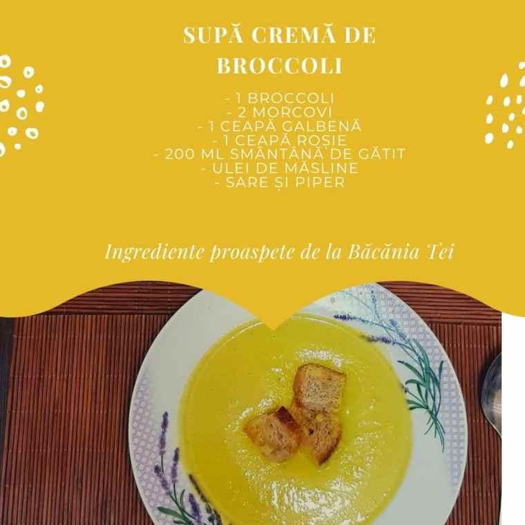 Supa crema de brocoli - Bacania Tei
