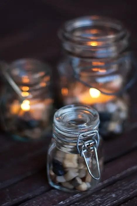 Tea Lights In Jars DIY: Tiny baby Jar