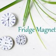 vintage second hand watch fridge magnet DIY