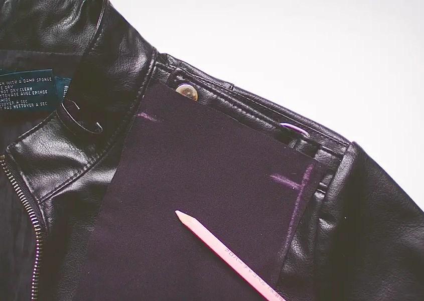 Fringed Jacket DIY steps