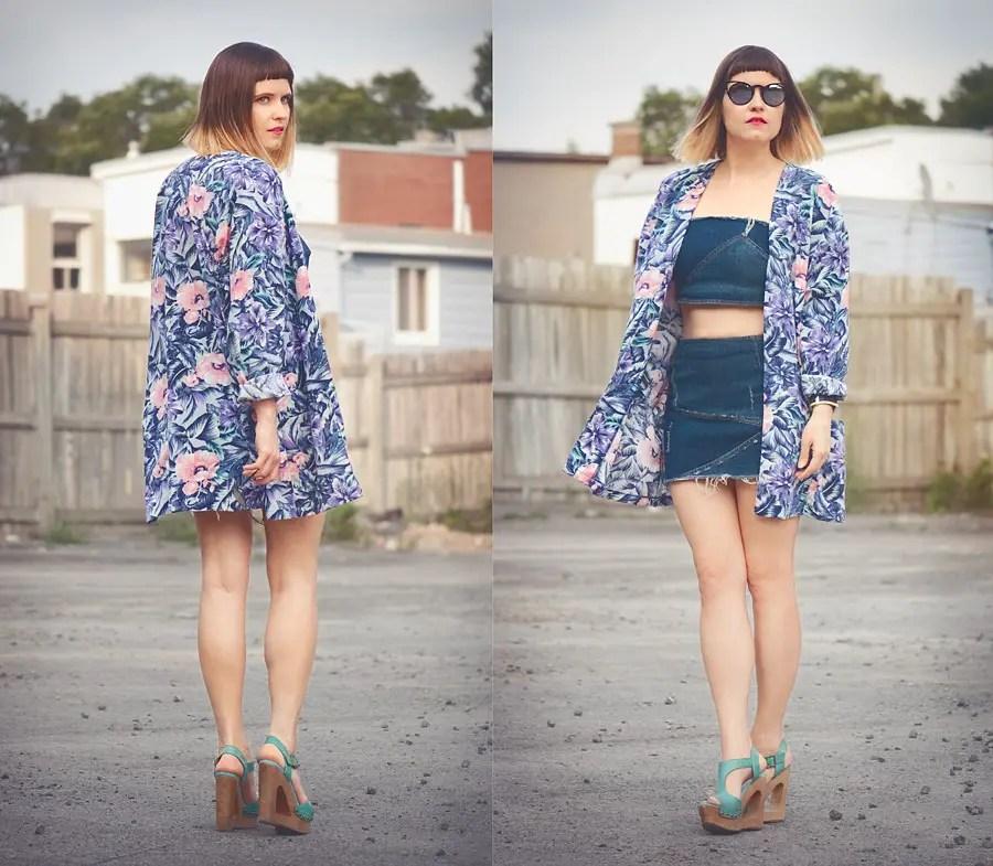 DIY Bandeau Top and Denim Mini Skirt