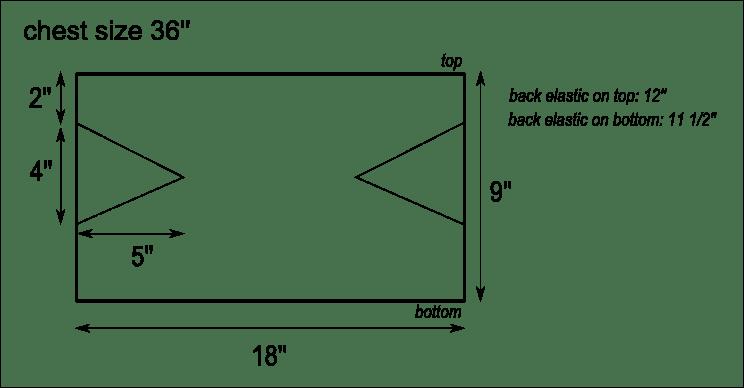 DIY Bandeau Top Pattern Schema