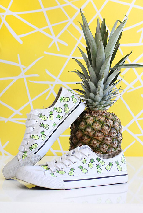 DIY Pineapple Shoes By I Spy DIY