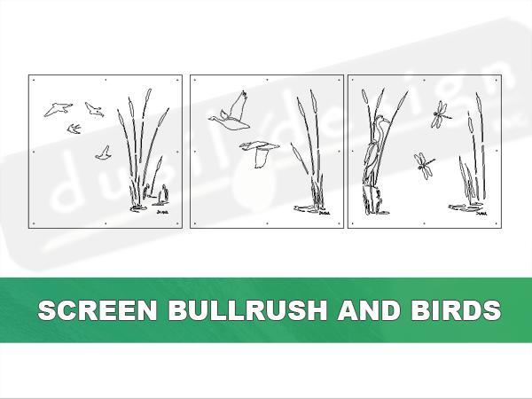 Crane and Bullrush