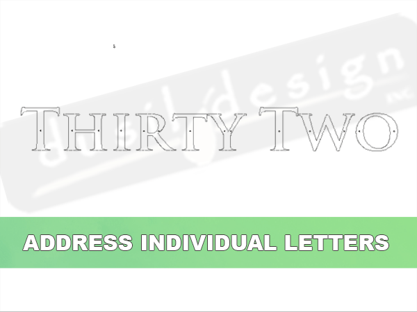 Address Individual Letters