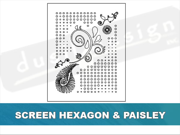 Screen Hexagon and Paisley