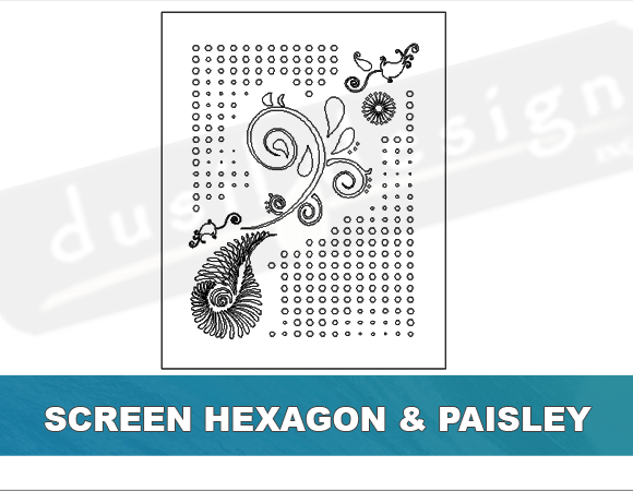 Screen Hexagon and Paisley