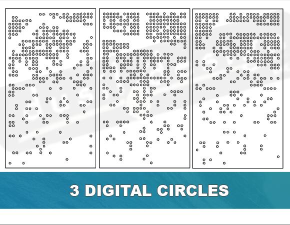 Modern Digital Circle Cutouts