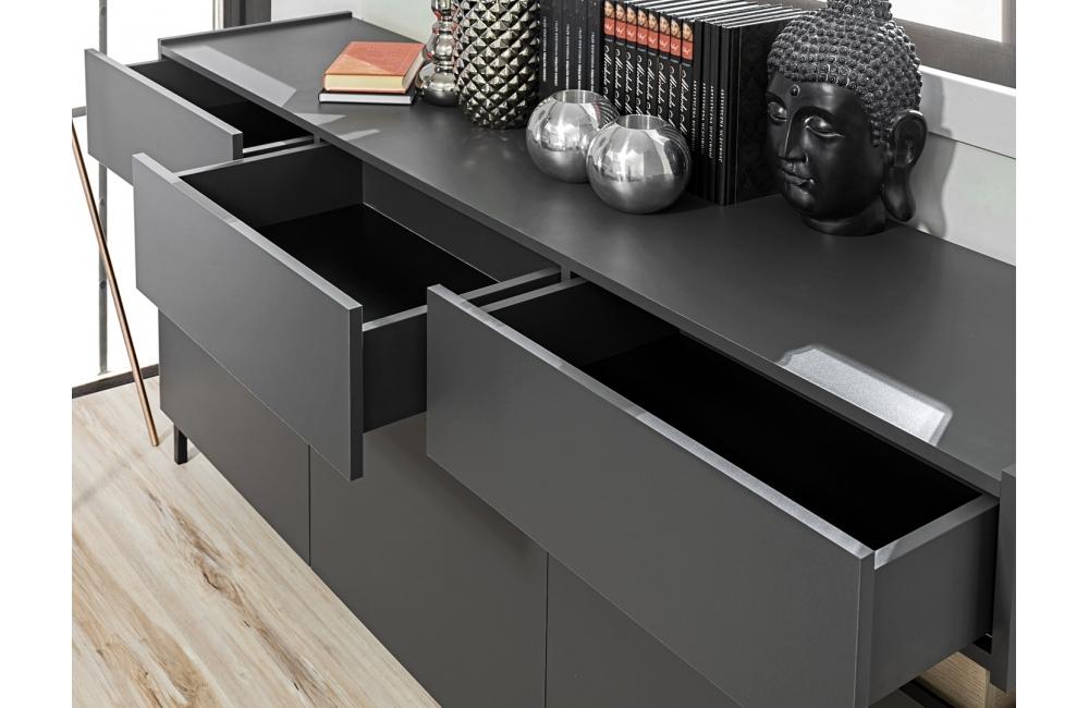 italia buffet design gris 180cm dusine