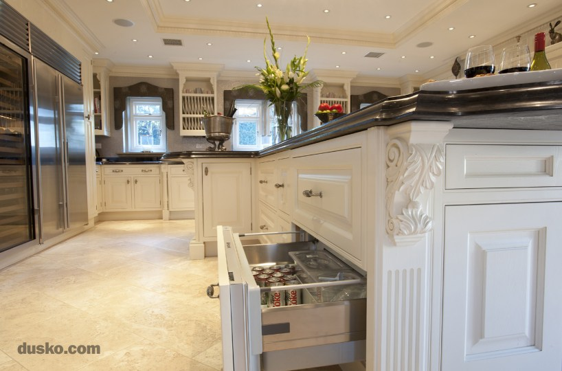 Colonial Style Kitchen in Prestbury, Cheshire Refrigerated Drawer