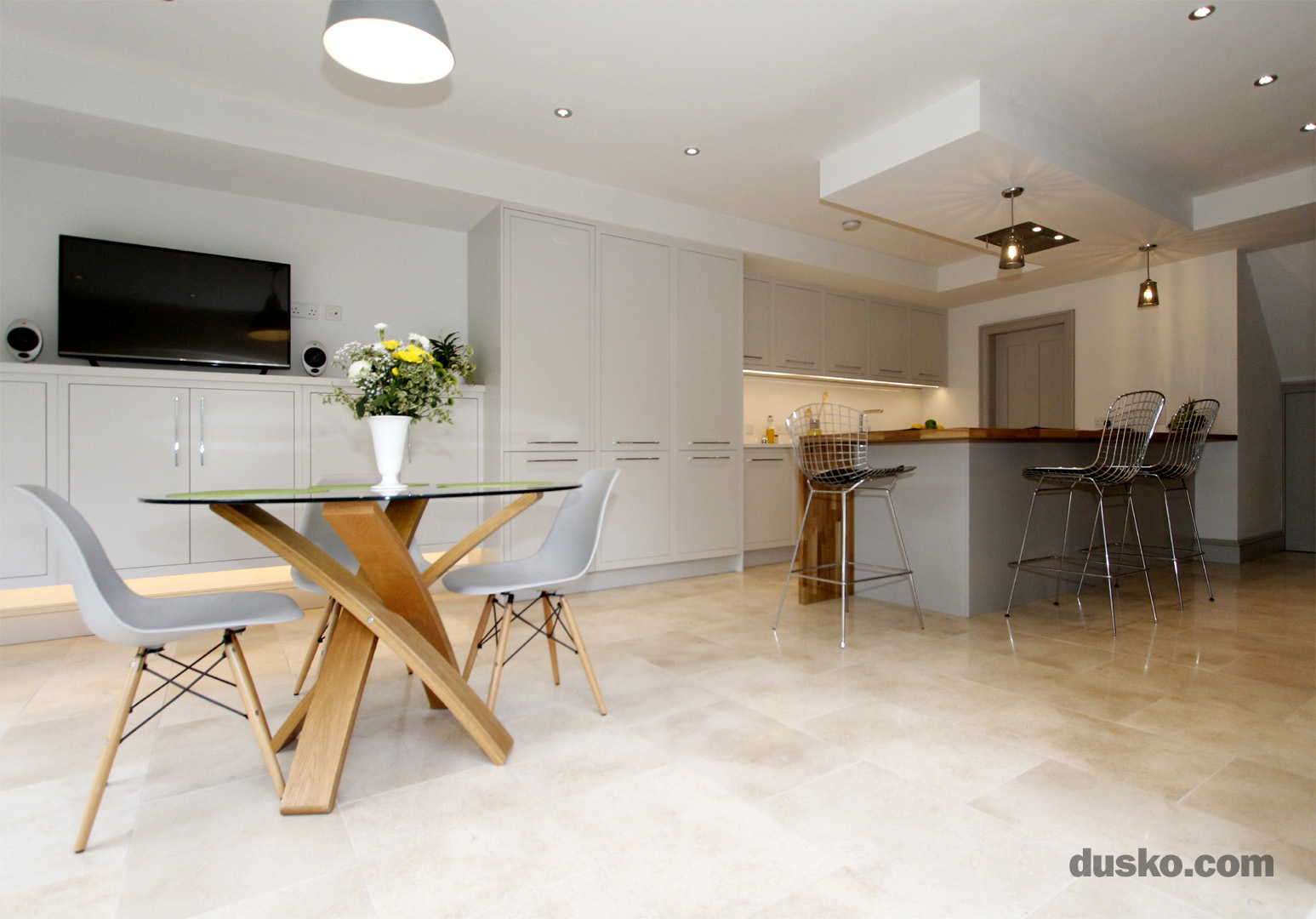 Contemporary Open Plan Kitchen and Dining Area in Handforth, Cheshire Design