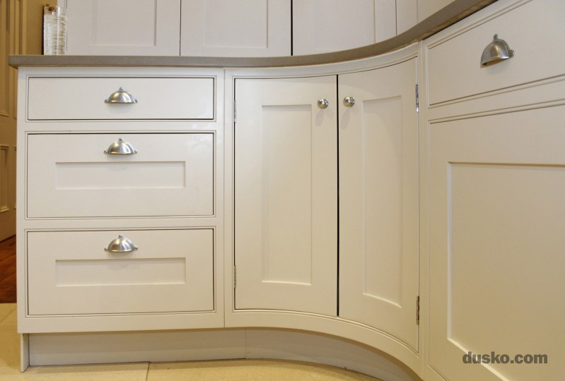 In Frame Kitchen in Bowdon, Cheshire Curved Inframe Corner Cabinet