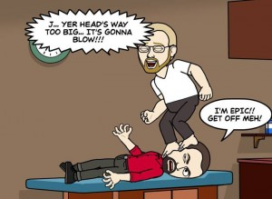 Bitstrips Chris tried to warn J.... and as all good besties, tried to help...