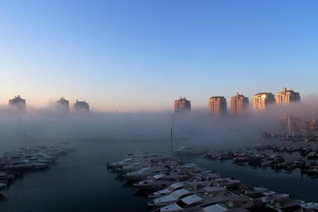 Katar'ın havası bazen sizi şaşırtabiliyor.