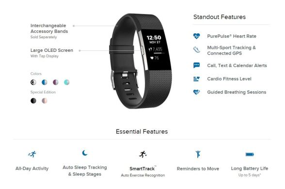 Fitbit Charge 2 alışkanlık motivasyon spor