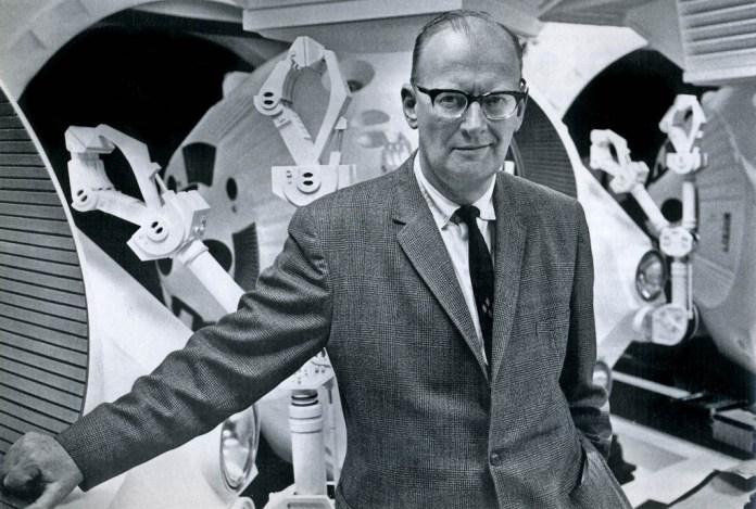 Arthur C. Clarke, 2011: A Space Odyssey setindeyken çekilmiş bir kare.