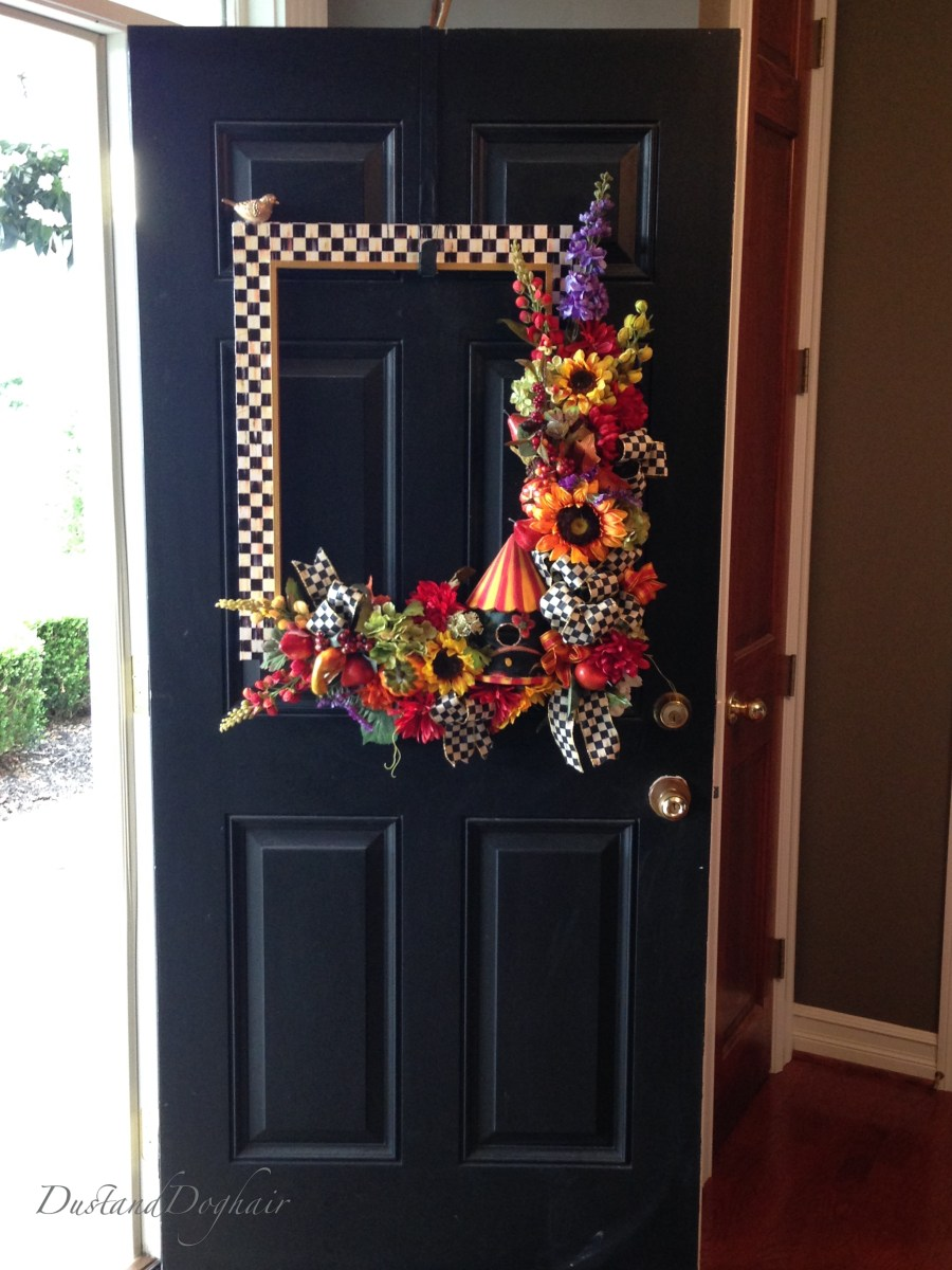 Front Door Decor With A Diy Mackenzie Childs Frame