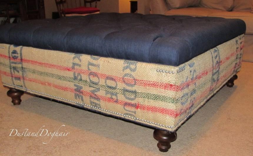 Storage Ottoman with Tufted Top coffee bags nailhead trim Storage bun feet