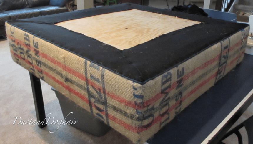Storage Ottoman Using Coffee Bags