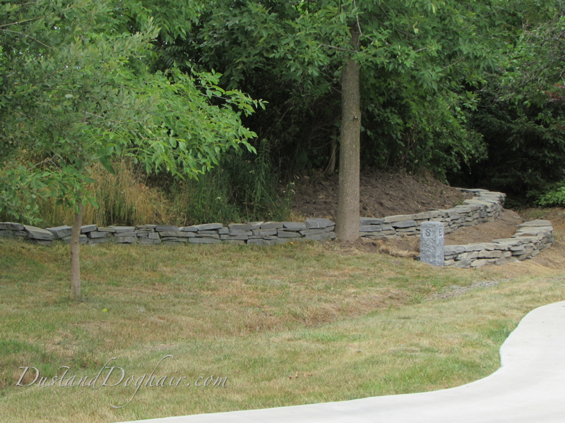 diy dry stack stone wall