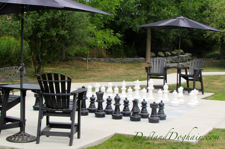 Outdoor Chess Garden (and an Accidental Four-Square Court)