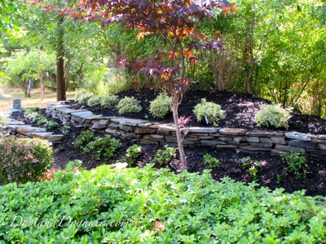two-tier stack stone garden