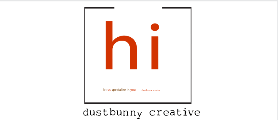 Dustbunny Creative 'hi' welcome-logo