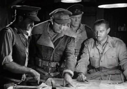 MacRoberts explains his plan to the General
