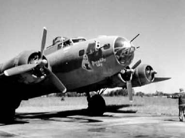 a bomber lands