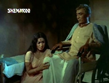 Sudha and Mr Verma in their hovel