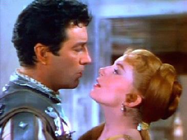 Robert Taylor and Deborah Kerr as Marcus and Lygia in Quo Vadis